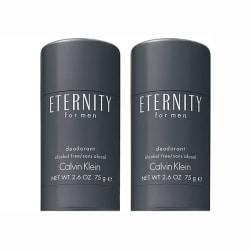 2-pack Calvin Klein Eternity For Men Deostick 75ml Transparent