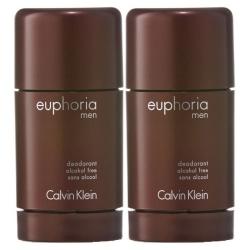 2-pack Calvin Klein Euphoria For Men Deostick 75ml Transparent