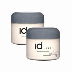 2-pack ID Hair Extreme Titanium Wax 100ml Transparent