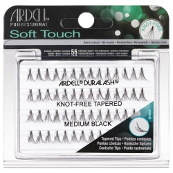 Ardell Soft Touch Individual Knot-Free Tapered Medium Black Black
