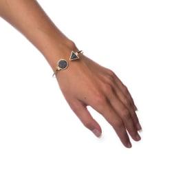 Armband Black Marble - Small Circle Transparent