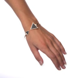 Armband Black Marble - Triangle Transparent