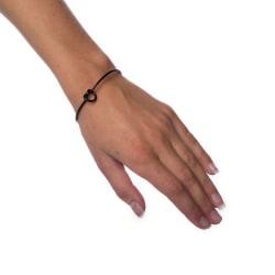 Armband Knot - Black Transparent