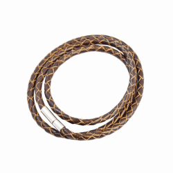 Armband Läder Smal - Deep Brown F2821DBN04 Transparent