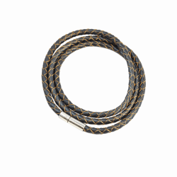 Armband Läder Smal - Deep Gray F2821DGY04 Transparent