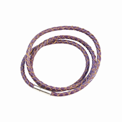 Armband Läder Smal - Purple F2821PU04 Transparent