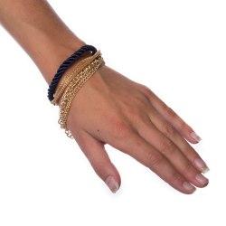 Armband Layered - Blue Transparent