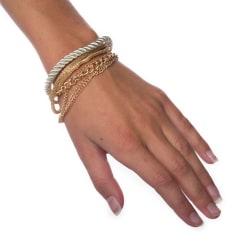 Armband Layered - Silver Transparent