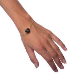Armband Marble Ball - Black Transparent