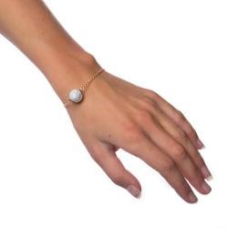Armband Marble Ball - White Transparent