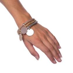 Armband Mixed Metals - Circle Silver