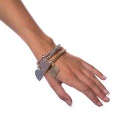 Armband Mixed Metals - Heart Transparent