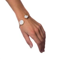 Armband White Marble - Circle Transparent