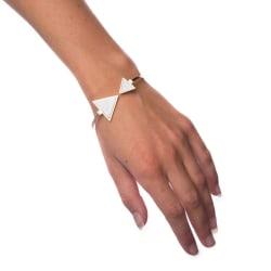 Armband White Marble - Triangle Transparent