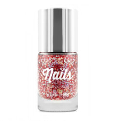 Beauty UK Glitter Nail Polish - Astral Stars Red Transparent