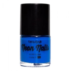 Beauty UK Neon Nail Polish - Blue Transparent