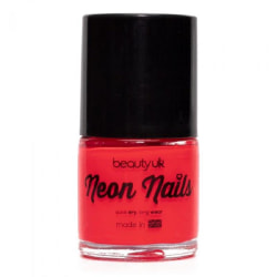 Beauty UK Neon Nail Polish - Coral Transparent