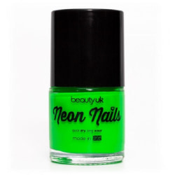 Beauty UK Neon Nail Polish - Green Transparent