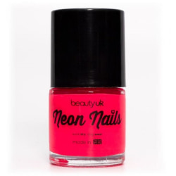 Beauty UK Neon Nail Polish - Pink Transparent