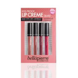 Bellapierre Kiss Proof Lip Creme Quad 4 Pack Transparent