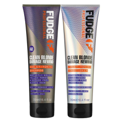 Fudge Clean Blonde Damage Rewind DUO Shampoo 250ml + Conditioner Lila