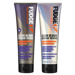 Fudge Clean Blonde Damage Rewind DUO Violet Schampo + Conditione Lila