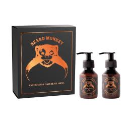 Giftset Beard Monkey Facewash 100ml & Daycreme 100ml Transparent
