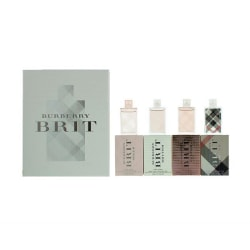 Giftset Burberry Brit Travel Collection For Women Mini 4x5ml Transparent