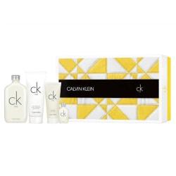 Giftset Calvin Klein CK One Edt 200ml + Edt 15ml + BL 100ml + SG PinkGold