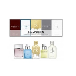 Giftset Calvin Klein Deluxe Travel Collection For Men 5 x Edt 10 Silver