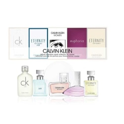 Giftset Calvin Klein Deluxe Travel Collection For Women 5x Edp Silver