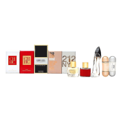 Giftset Carolina Herrera Fragrances Mini Collection 5 Piece Transparent