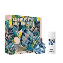 Giftset Diesel Only The Brave Edt 35ml + Shower gel 50ml Blå