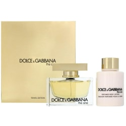 Giftset Dolce & Gabbana The One Edp 75ml + Body Lotion 100ml Gold