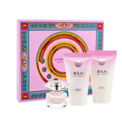 Giftset Versace Bright Crystal Edt 50ml + Body Lotion 50ml + Sho Pink