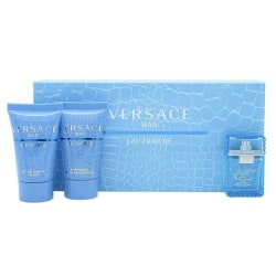 Giftset Versace Man Eau Fraiche Edt 5 ml Mini Set Blå