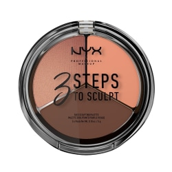 NYX PROF. MAKEUP 3 Steps To Sculpt Face Sculpting Palette - Deep Brun