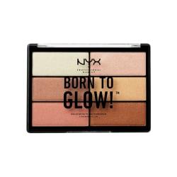 NYX PROF. MAKEUP Born To Glow Highlighting Palette Transparent