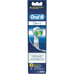 Oral-B 3D White 2 Brush Head Transparent