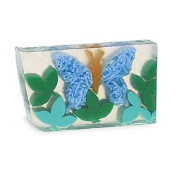 Primal Elements Bar Soap Papillon en Bleu 170g Transparent