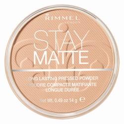 Rimmel Stay Matte Pressed Powder 003 Peach Glow 14g Transparent