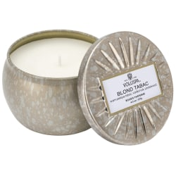 Voluspa Decorative Tin Candle Blond Tabac 127g Silver