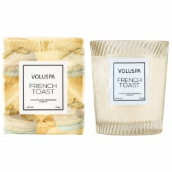 Voluspa Macaron Boxed Textured Glass Candle French Toast 184g Beige