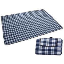BLÅ Picknickfilt isolerande vatten och smutsavvisande baksida-20