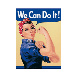 "Kylskåpsmagnet retro, ""We Can Do It!"""