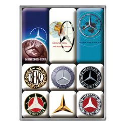 "Kylskåpsmagneter retro, ""Mercedes-Benz Logo Evolution"""