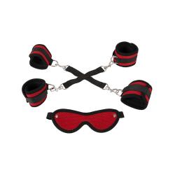 Bad Kitty: Bondage Set, 4-piece Röd, Svart