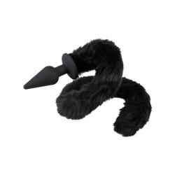 Bad Kitty: Plug with Cat Tail Svart