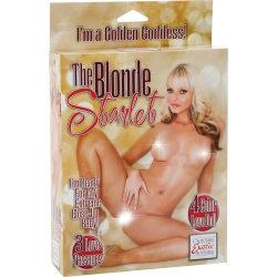 California Exotic: The Blonde Starlet Love Doll Hudfärgad