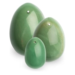 La Gemmes: Yoni Egg Set, Jade (S-M-L) Grön